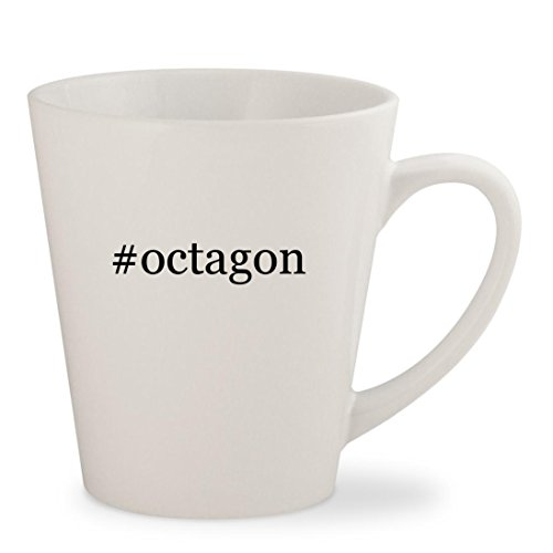 #octagon - White Hashtag 12oz Ceramic Latte Mug Cup (Table Octagon Grill)