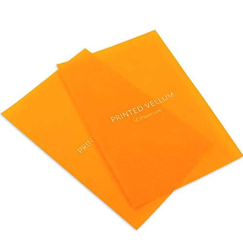 Printed Orange Translucent Vellum, 100 -