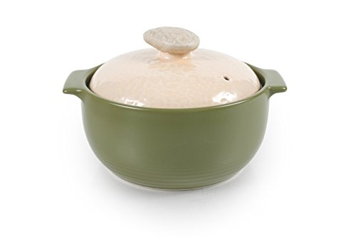 Neoflam Kiesel 1QT Stovetop Ceramic Cookware, Lime (Ceramic Covered Casserole)