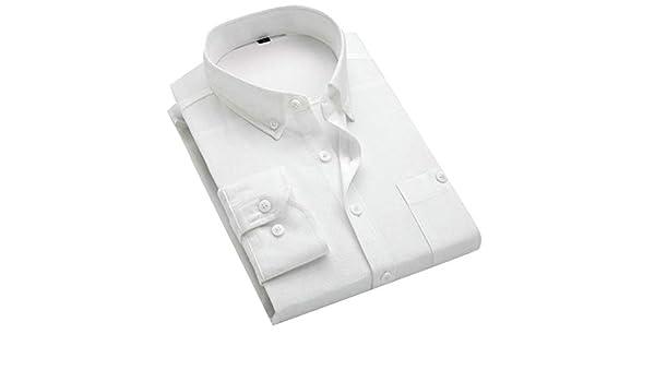 Gocgt Camisa de Pana para Hombre, Manga Larga, Informal, Color sólido, con Botones Blanco Blanco XL: Amazon.es: Ropa y accesorios