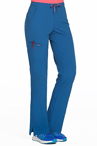 Med Couture Women's 'Air Collection' Cloud 9 Scrub Pant, Royal/Apricot, Small