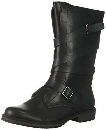 Madden Girl Women's MASONN Combat Boot, Black Paris, 6 M US