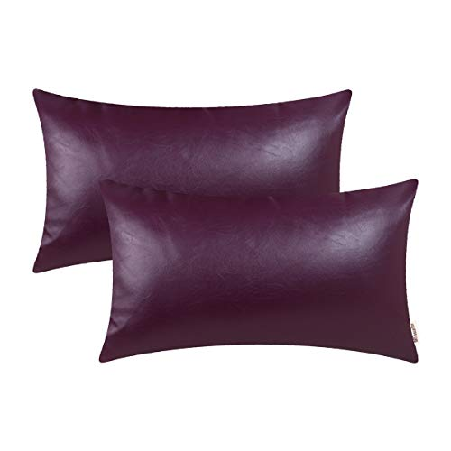 Brawarm Bolster Leather Pillowcase Decoration