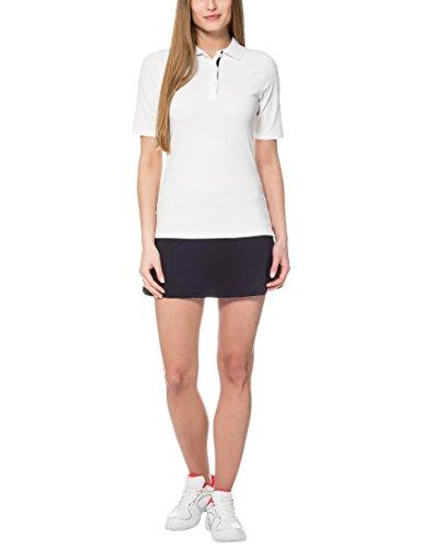 Ultra féminine Sport Tennis Polo Auckland, Noir / Blanc, S, 12081