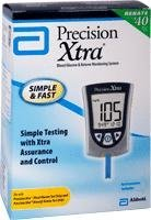 DSS Precision Xtra Blood Glucose Meter Kit, Results in 5 seconds, Strips...