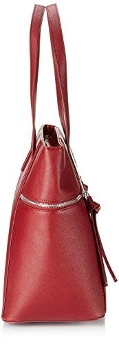 Marco Tozzi 61004 - Bolso de mano de material sintético mujer rojo - Rot (Merlot 537)