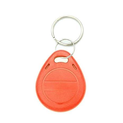 10 Piezas T5577//EM4305 125 KHz RFID Proximidad ID Tarjeta de identificaci/ón Etiquetas Llavero Llavero Inteligente ID Llavero para Acceso Contorl Sistema Gris