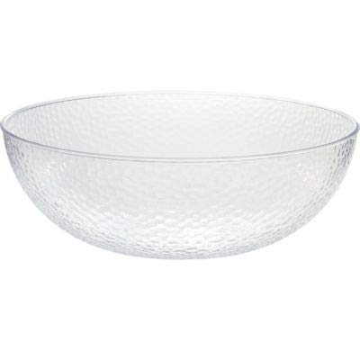 CLEAR Hammered Plastic Bowl ()