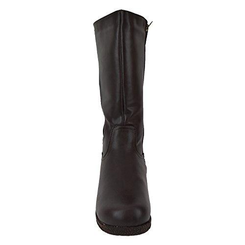 Bottes Dhiver Moda Femmes Confortable Imperméable À Leau 3m Thinsulate Large Toe Toasty Température Chaude -25 ° F / -32 ° C Alberta Brun