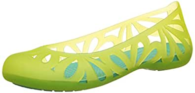 Crocs Women's Adrina III Flat, Burst/Island Green, 7 US Women