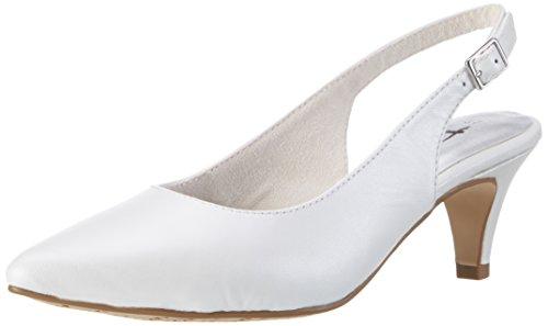 Tamaris 29607, Sandales Bout Ouvert Femme Blanc (White 100)