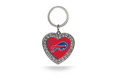 - Rico NFL Buffalo Bills Rhinestone Heart Keychain