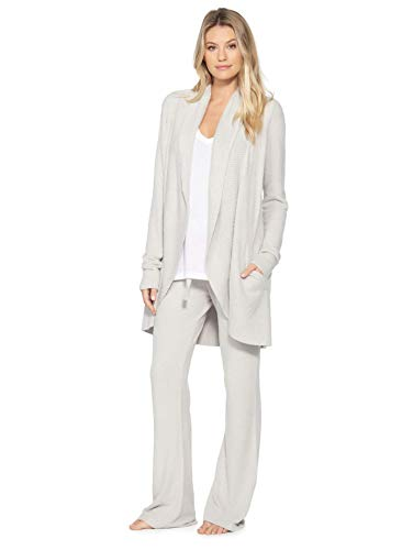 Barefoot Dreams Cozy Chic Lite Circle Cardi (Small, Silver)