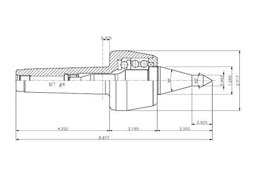 GG MT5 CNC High Speed Live Center ; Extended A Type 5BNL30A:015005