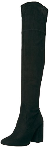 Kenneth Cole New York Women's Carah Knee High Tall Stretch Engineer Boot, Black, 9 M - Boot Tall Stretch
