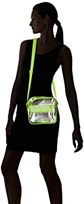 NFL Stadium Approved Clear Messenger Bag Clear Shoulder Bag Transparent Purse with Adjustable Strap