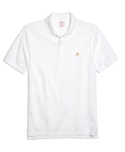 - Brooks Brothers Men's Original Fit Performance Pique Polo Shirt White (Medium)