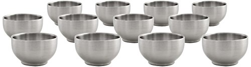 Front of the House DBO124BSS23 Harmony Bowl, 2.5'' Diameter, 1.5'' Height, 2.5 oz., Stainless Steel (Pack of 12) by Front of the House