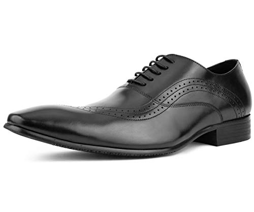 Green Bali Shade - Asher Green Men's Genuine Leather Contemporary Bal Oxford with a Unique Flowing Perforated Wing Tip Design, Style AG181 Black