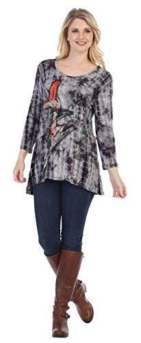 - Jess & Jane Women's Bamboo Tie Dye High Low Tunic Top (XL)