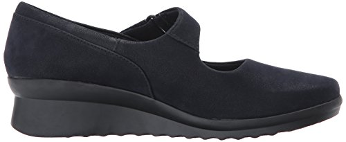 Clarks Womens Caddell Yale Wedge Pump Navy