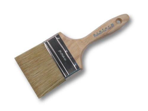 Proform CB4.0X White China Beaver Tail Paint Brush 4-Inch ()