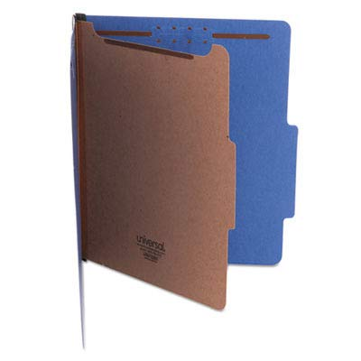 Universal Products - Universal - Pressboard Classification Folders, Letter, 4-Section, Cobalt Blue, 10/Box - Sold As 1 Box - Heavy-duty covers in vivid colors. - 2