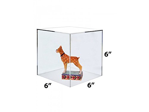 Marketing Holders Clear Acrylic 5 Sided Display Decor Riser Cube Box (1, 6''w) by Marketing Holders (Image #1)