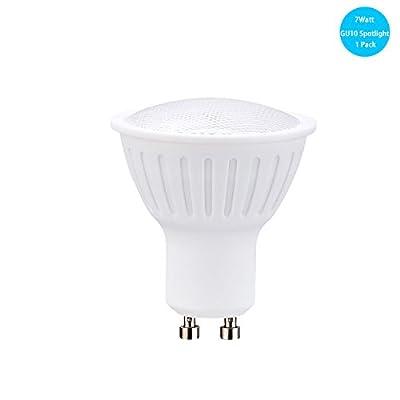 7W LED Lighting Bulbs GU10 Base Spotlight Bulbs 65Watt Halogen Flood Light Bulbs 120Volt 120Degree Beam Angle 700Lumen Dimmable