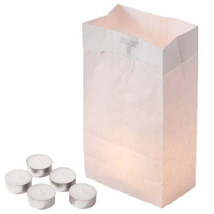 Concordia Supply Luminaria Kit - Bags & Tealight Candles 4hr (Set of 500)