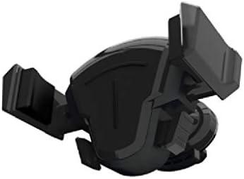 車の空気出口の携帯電話のホールダー、冷暖房ポートの運行車の回転 (色 : ブラック)