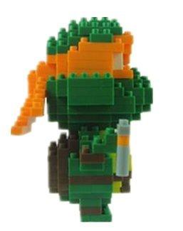 1 Set of 4 Teenage Mutant Ninja Turtles Lego Style Plastic Building Blocks of Small Particles Assembled Educational Toys