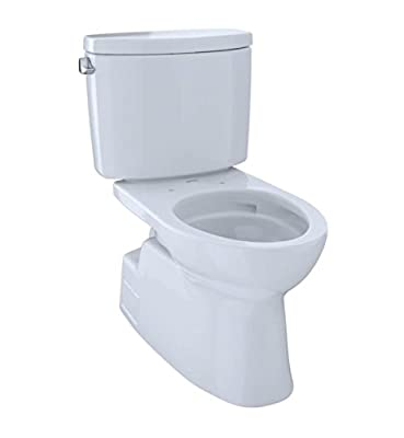 Toto CST474CEFGNo.11 Vespin II Two-Piece High-Efficiency Toilet, with SanaGloss, 1.28-GPF, Colonial White