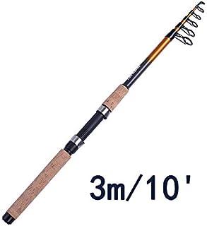 FidgetGear Fairiland Canne à pêche télescopique en Carbone pour pêche en Eau Douce