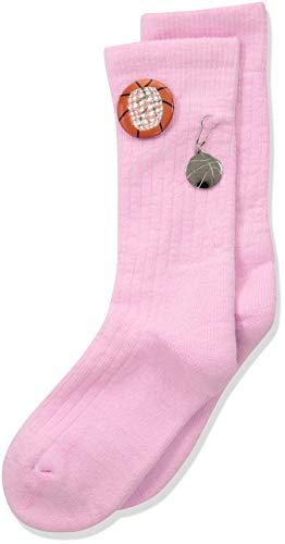 (Thorlos Junior's Express Yourself Basketball Crew Socks, Pink, Small)