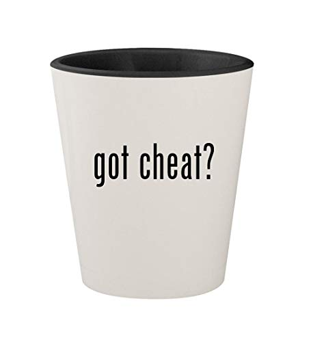 got cheat? - Ceramic White Outer & Black Inner 1.5oz Shot Glass