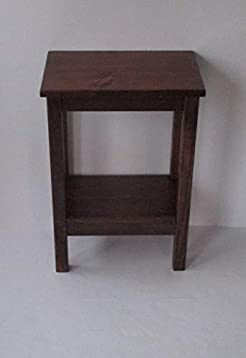 End Table//Nightstand//Side Table//Bedside Table//Narrow Table//Rustic Wood Small Table Dark Walnut Stain