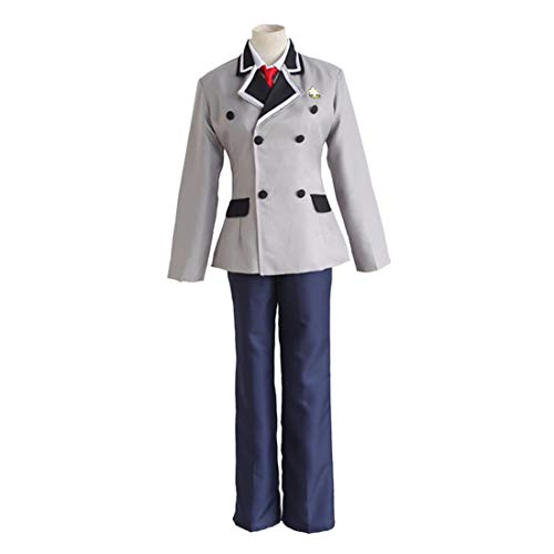 qyy Anime Cosplay Costume Student Uniform Mens Daily Apparel Jacket Pants and Ties,Clothing Set-L