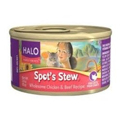 Halo Spot's Stew Holistic Wet Cat Food, Chicken and Beef, 5.