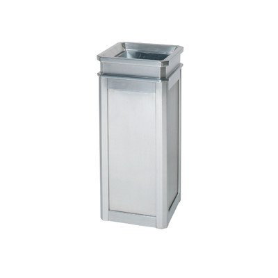 [5-Gal Designer Line Stainless Steel Open Top Receptacle [Set of 2] Color: Satin Stainless Steel] (5 Gallon Steel Open Top)