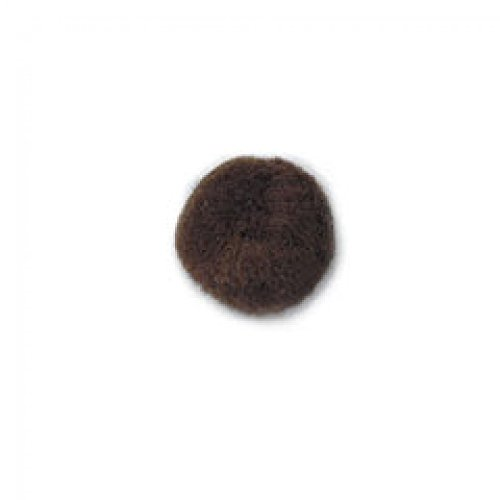 Impex Craft Pom-Poms for Crafts 12mm - Brown (100pk)