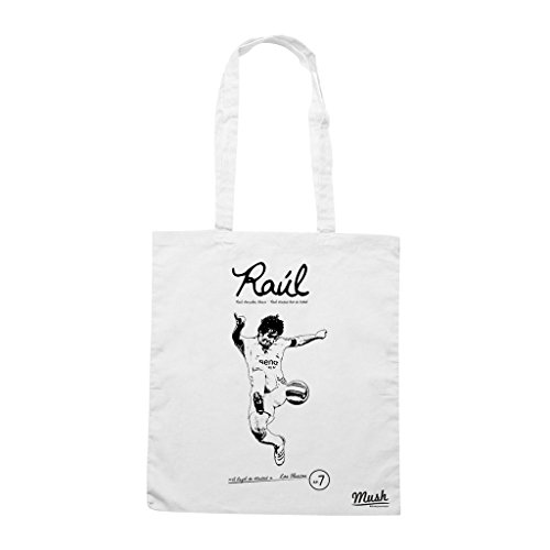 Borsa Raul Real Madrid Spagna Old Stars - Bianca - Sport by Mush Dress Your Style
