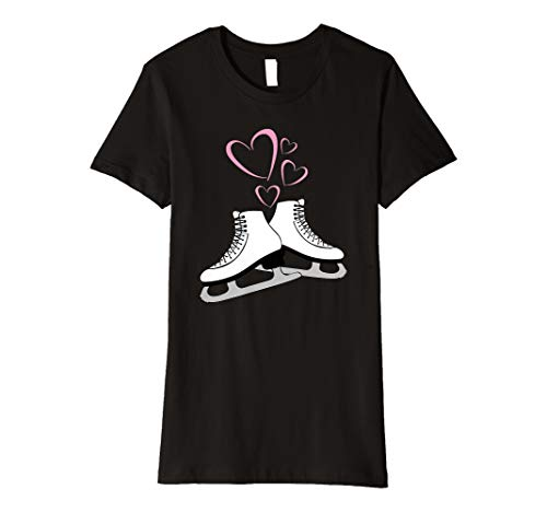 Figure Skating T-Shirt Skates Girls, Women Ice Skater Lover ()