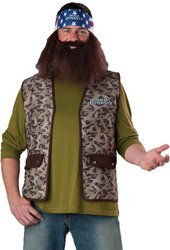 Duck Dynasty Adult Costume Willie (Brown Beard & Bandana) - One -