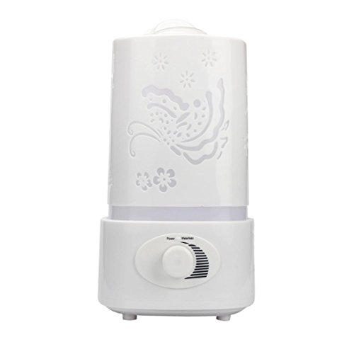 Anshinto 1.5L Ultrasonic Home Aroma Humidifier Air Diffuser Purifier Lonizer Atomizer (white)