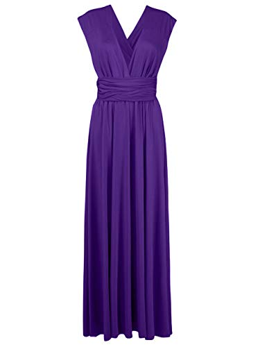 Sexyshine Women's Backless Gown Dress Multi-Way Wrap Halter Cocktail Dress Bandage Bridesmaid Long Dress(BU,M) - Multi Halter Apparel
