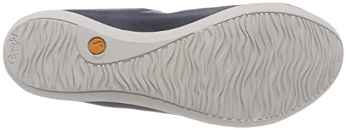 Oki451sof Washed Ballerine Blu Donna Softinos navy Chiusa Punta