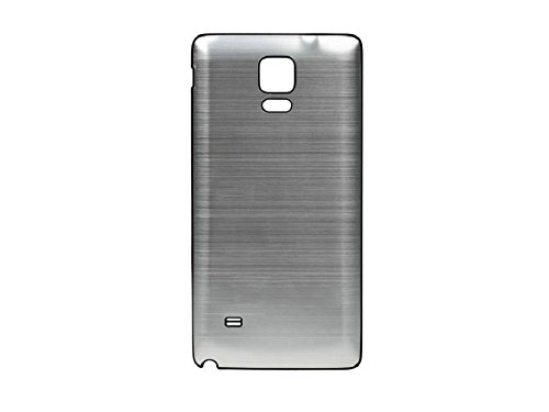 newest 19380 b3eef Goliton 2014 Brushed Metal Aluminum Replacement Battery Back Cover with  Black Frame for Samsung Galaxy Note 4-Silvery Grey with Black Side