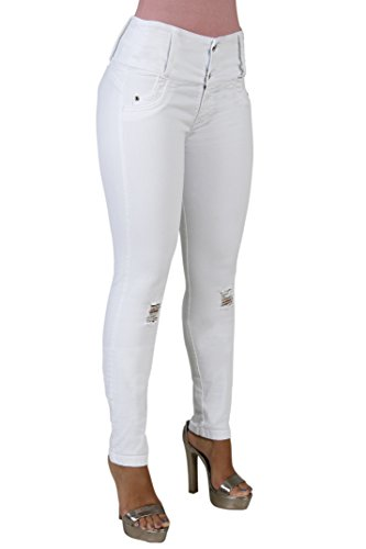 Lifter Flex (Curvify 764 Women's Butt-Lifting Skinny Jeans | High-Rise Waist, Brazilian Style (764,White, D2,11))