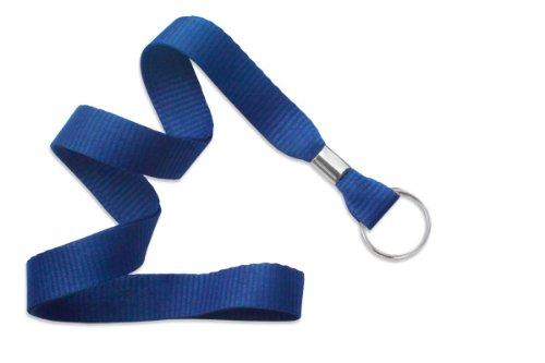 Royal Microweave Lanyard - Royal Blue Lanyard, flat MicroWeave ribbed poliester, non break-away, Split Ring, 5/8